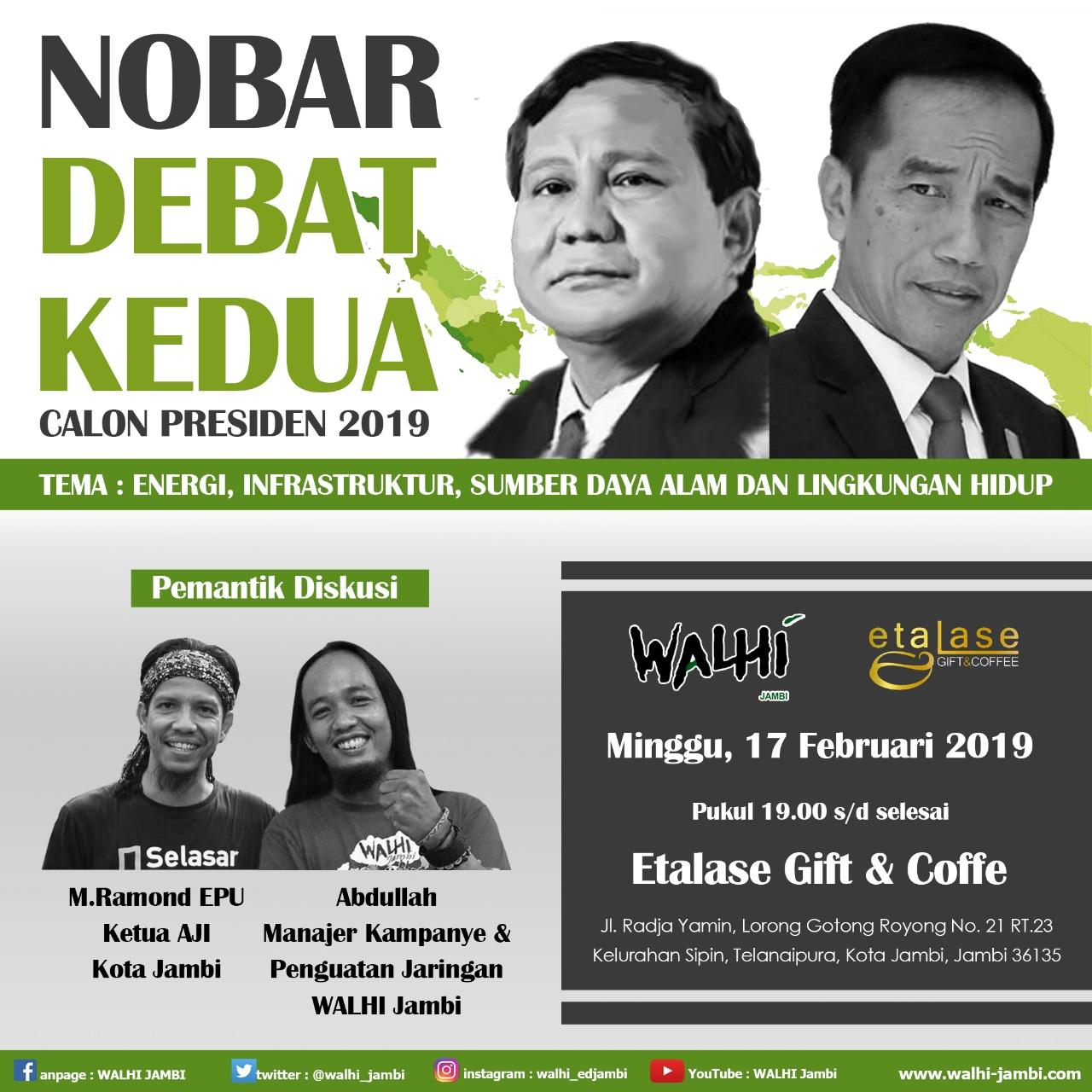 Nobar Debat Capres 2019