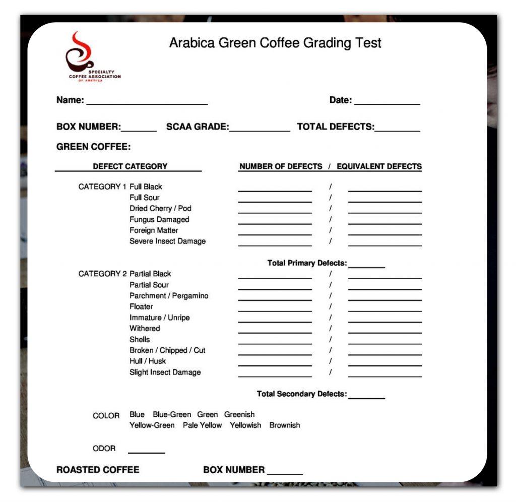 Contoh Form Green Grading SCA