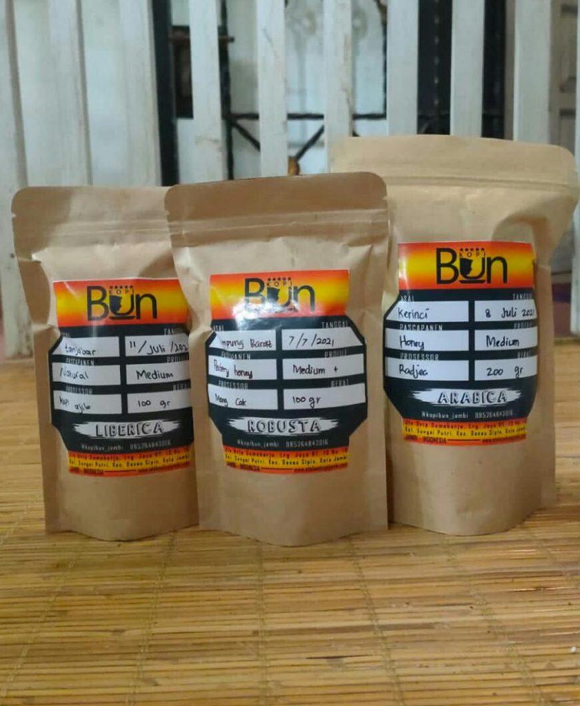 Roasbean Kopi Jambi (Arabika, Robusta, Liberika) dalam Aroma, Rasa, Sehat - Kopi BUN